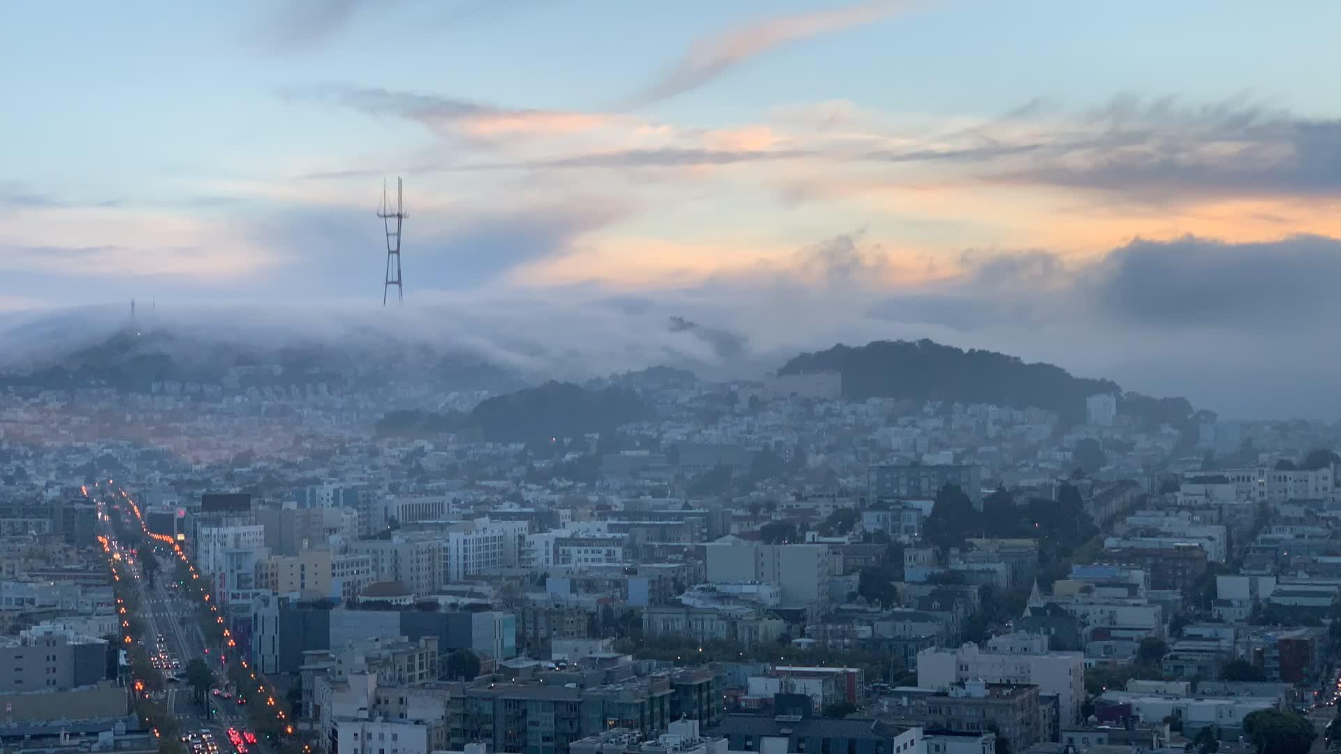 fog, nature, san francisco,  GIFs
