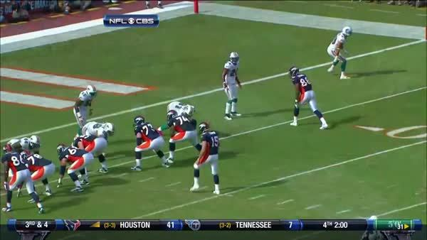 nflgifs, Tim Tebow avoids Cam Wake and fires one to Demaryius Thomas (reddit) GIFs