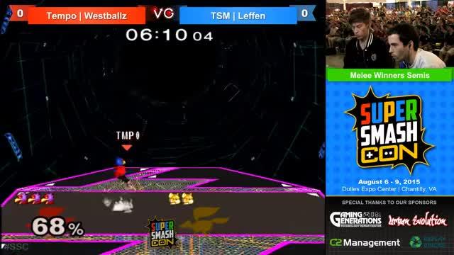 Super Smash Con - Westballz (Falco) Vs. Leffen (Fox) - Winners Semis