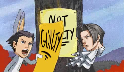 Watch this GIF on Gfycat. Discover more aa, ace attorney, gyakuten saiban, lulz, miles edgeworth, phoenix wright GIFs on Gfycat