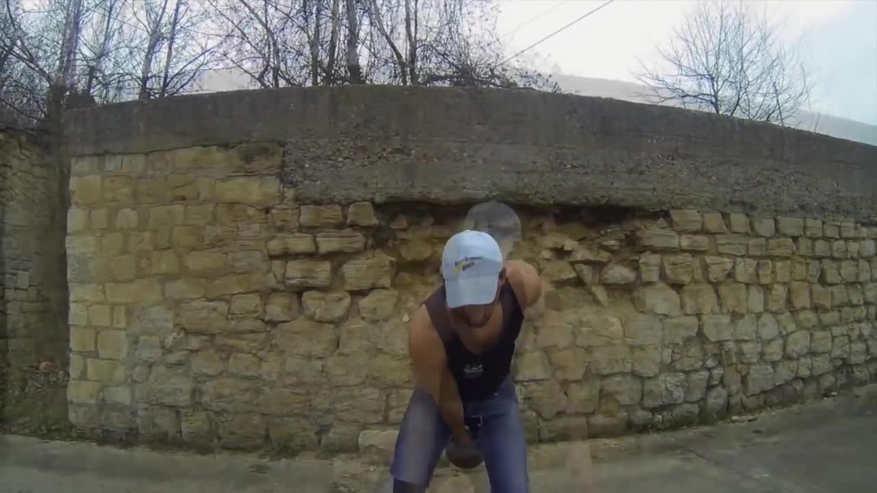 christophe simao, freestyle kettlebell, kettlebell, KB TRIAL 2 - Christophe Simao - Kettlebell freestyle street GIFs