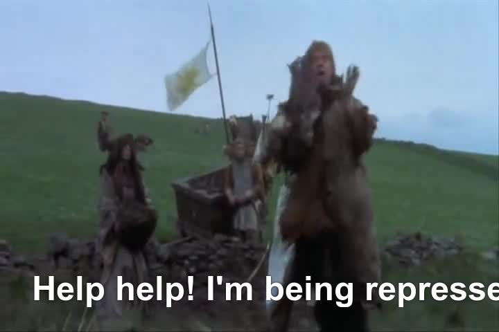 and, authur, grail, holy, king, monty, python, repression, the, Help, Help I'm Being Repressed! GIFs