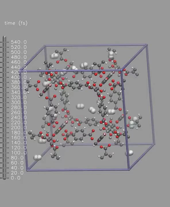 Watch and share Hydrogen In MOF-5: Molecular Dynamics GIFs on Gfycat