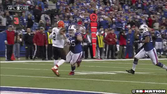 Watch and share Manziel Sack Bills Taunt GIFs on Gfycat
