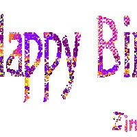 Watch and share Birthdy Glitter animated stickers on Gfycat