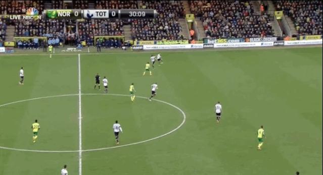 coys, Nice bit of skill by Bentaleb to retain possession vs. Norwich. (reddit) GIFs