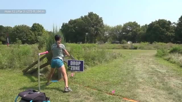 Watch Round Two 2018 Ledgestone Insurance Open - Paige Pierce hole 12 par save GIF by Benn Wineka UWDG (@bennwineka) on Gfycat. Discover more Sports, dgpt, disc golf, disc golf pro tour GIFs on Gfycat