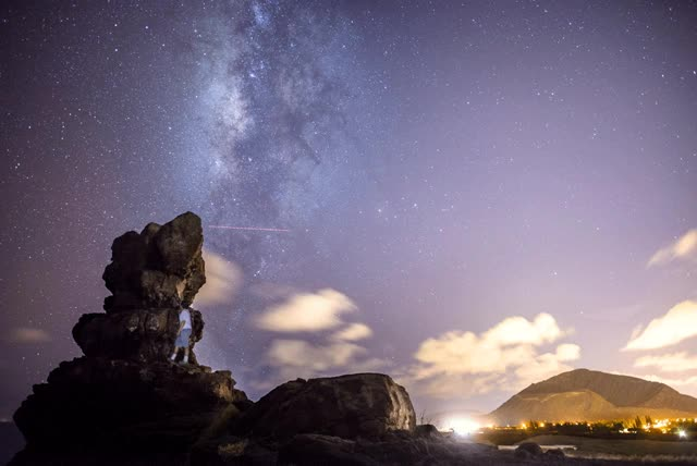Watch and share Pele's Chair, Oahu, Hawaii, Milky Way GIFs on Gfycat