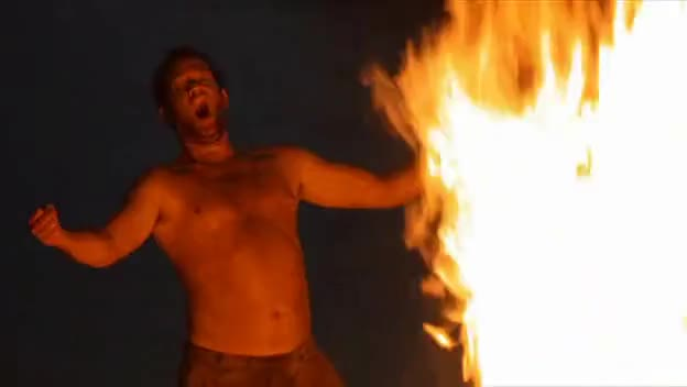 tom hanks, Tom Hanks in Cast Away - Making a Fire Scene GIFs