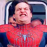 Watch and share Spiderman Tobey Maguire Stopping Train Face GIFs on Gfycat