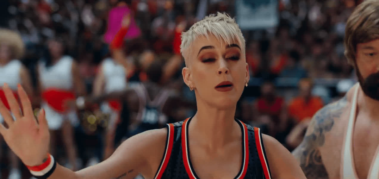 Katy Perry, awkward, basketball, fail, hit in the face, ouch, swish swish, Katy Perry Hit in the Face GIFs
