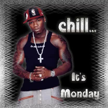 Watch and share Chill Its Monday Cent Glitter GIFs on Gfycat