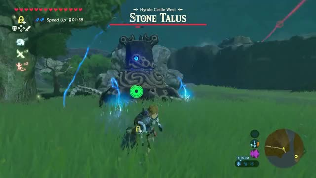 Watch and share Zelda Breath Of The Wild - Guardian Vs. Stone Talus Fight GIFs on Gfycat