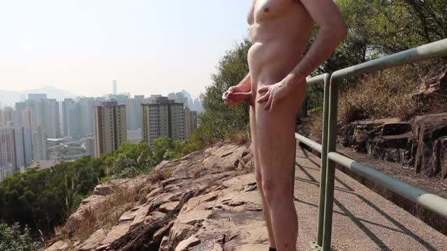 absolutely nude  in the open  broad daylight = total satisfaction