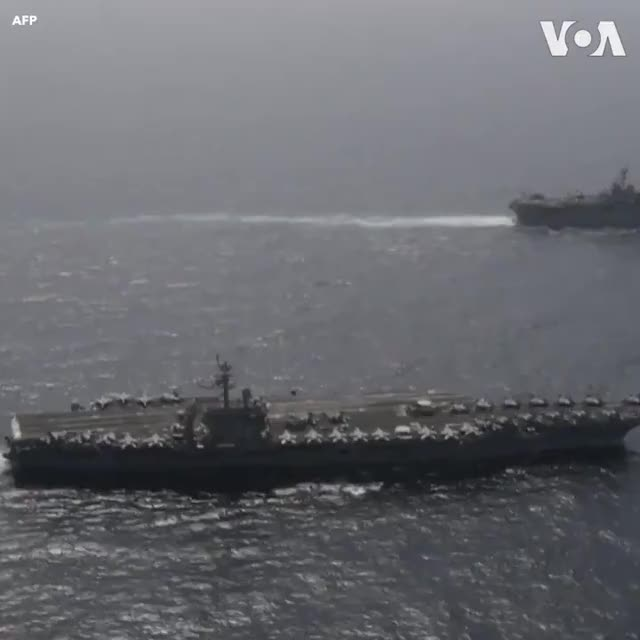 Watch and share The Voice Of America - Images Released By The US Navy On Monday, May 20, Show The Abraham Lincoln Carrier Strike Group (CSG) And Kearsarge A GIFs on Gfycat