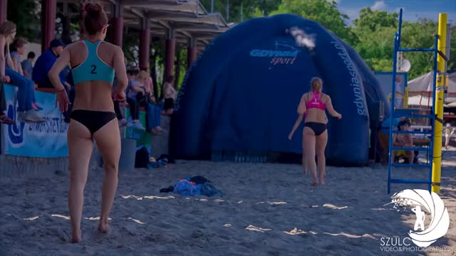 Watch and share SEXY GIRLS IN BIKINI PLAY BEACH VOLLEYBALL WARM UP & STRETCHING 4K GDYNIA 2016 GIFs on Gfycat