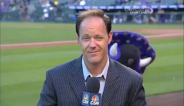 Watch and share Rockies Mascot Gif GIFs and Dinger Gif GIFs on Gfycat