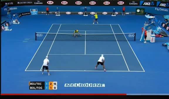 Watch and share Fognini Tags Rojer In Real Time  GIFs by thefanchild on Gfycat