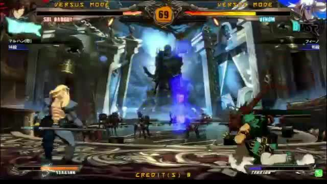 guiltygear, sol, venom, Revelator (and 1.1?) Venom notes 5 GIFs