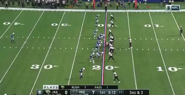 Donte Moncrief breaks a tackle and scores an 80-yard touchdown against his former team GIFs
