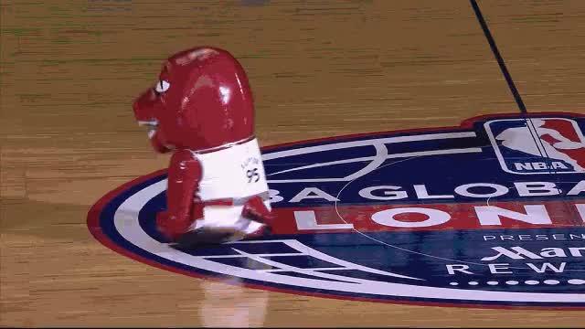 Watch and share NBA Mascot London Raptors Vs Magic GIFs by dleenba on Gfycat