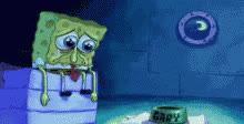 crying, depressed, lonely, sad, spongebob, tear, Spongebob Crying GIFs
