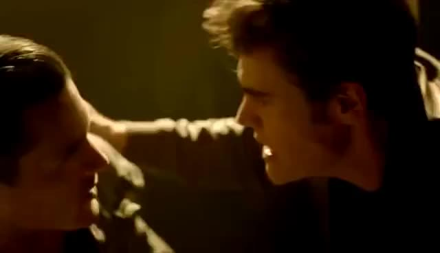 The Originals, The Vampire Diaries, The Vampire Diaries Enzo Pushes Stefan GIFs