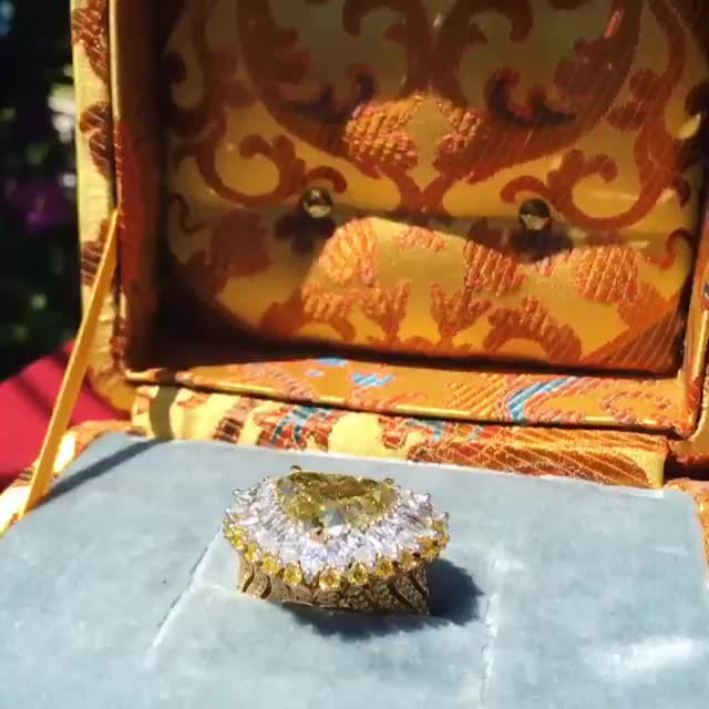 Watch This amazing yellow and diamond heart ring from our Red Carpet Collection is ... GIF by Diamond Garden (@cleopatra) on Gfycat. Discover more beaty, cannes, cannes 2019, chopard, jewelry GIFs on Gfycat