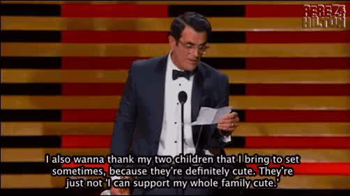 Watch and share Ty Burrell Funny Joke Kids animated stickers on Gfycat