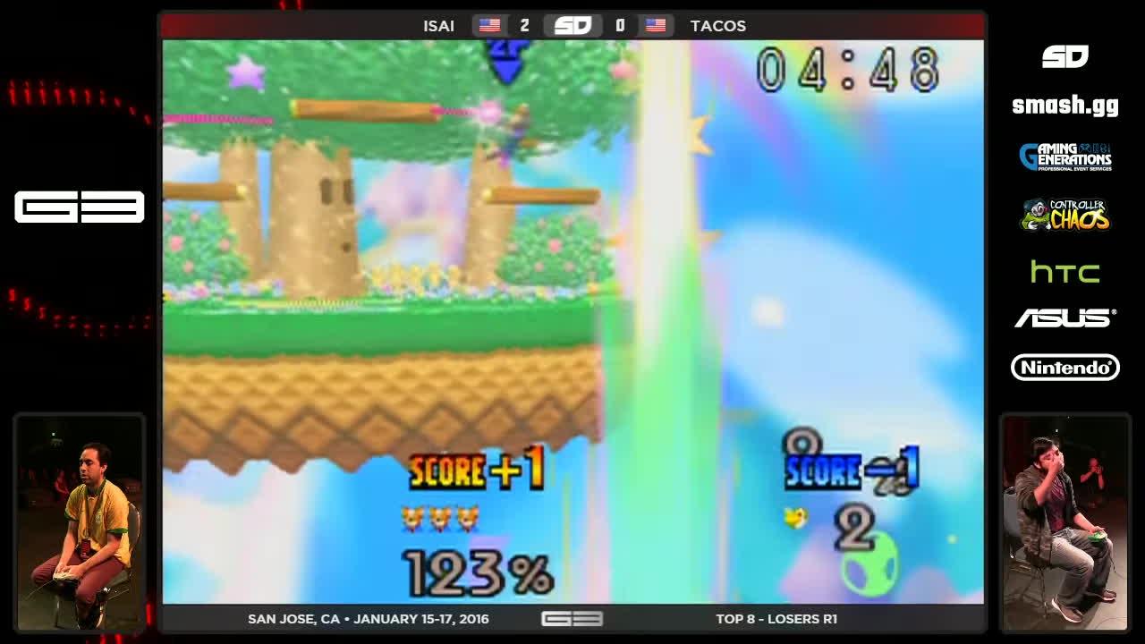 nintendo, super smash bros, tourney, GENESIS 3 - Isai (Fox) vs Tacos (Yoshi) - SSB64 - Losers R1 GIFs