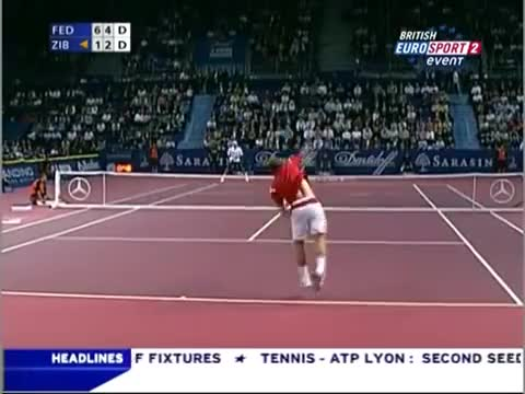 Watch and share Federer Zib Bale 2006 GIFs on Gfycat