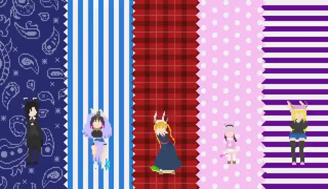 Watch and share Aozora No Rhapsody [Chiptune] - Miss Kobayashi's Dragon Maid OP GIFs on Gfycat