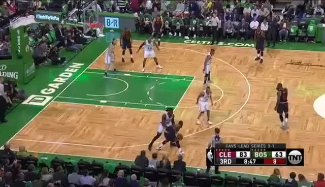 Kyrie with an insane spin and step back on Crowder