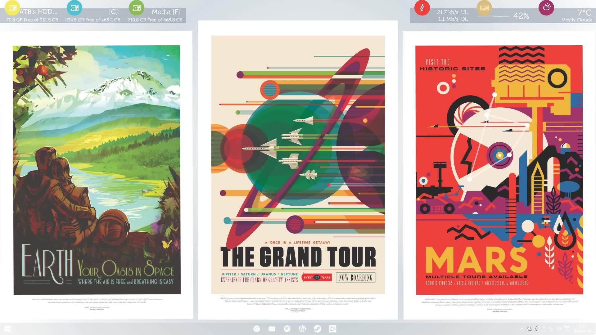 Rainmeter, rainmeter, tipofmytongue, Nasa inspired Desktop ATB GIFs