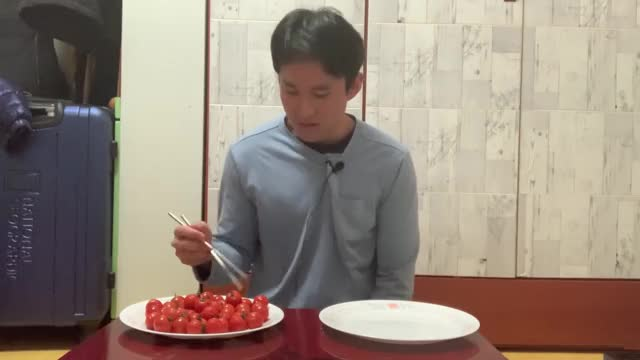 Watch and share Guy With Tourette Syndrome Challenged To Move Cherry Tomatoes With Chopsticks GIFs by geminiark on Gfycat