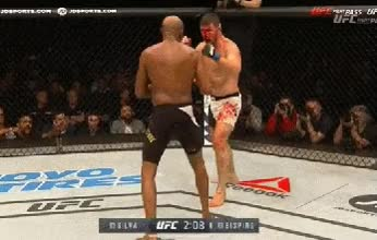 Watch and share Silva Unable To Check A Kick On The Move And While Bending At The Waist. GIFs on Gfycat