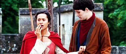 Watch this trending GIF on Gfycat. Discover more 1x05, angel coulby, bbcemrys, bbcguinevere, colin morgan, merlinedit, scgifs GIFs on Gfycat