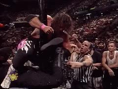 Watch and share Awesome SummerSlam 1997 GIFs Of The Undertaker, Bret Hart & Shawn Michaels GIFs on Gfycat