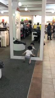 Watch and share Who Is Hidden There?! Cute Child.. GIFs on Gfycat