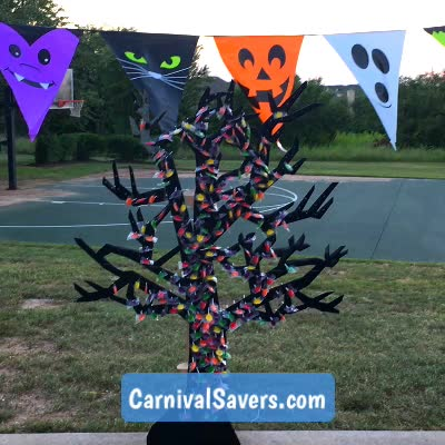 Watch and share Halloween Game GIFs and Spooky Tree GIFs by Carnival Savers on Gfycat
