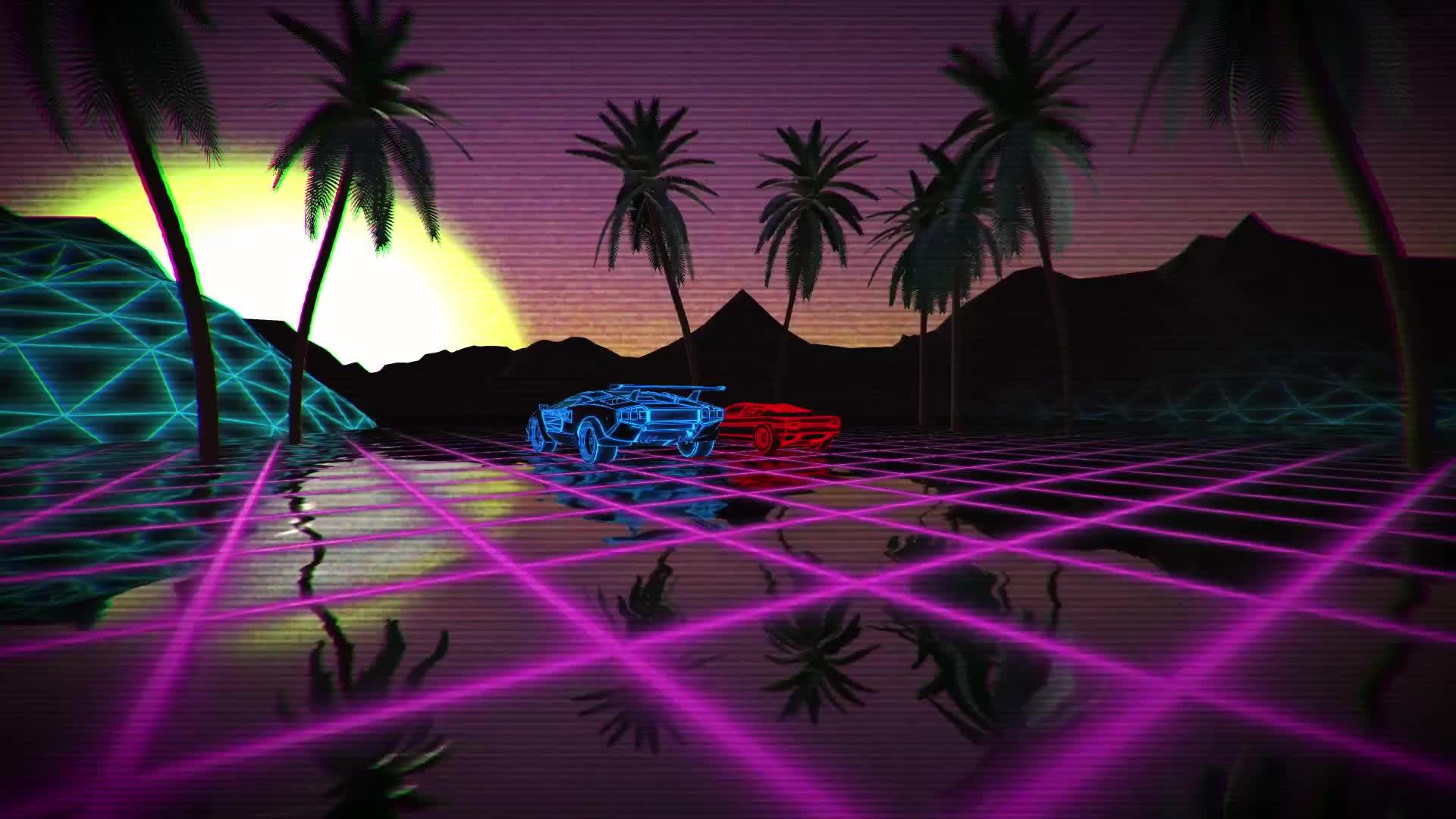 unity3d, 80s Scifi - Wireframe Artist GIFs