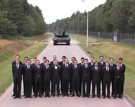 Watch and share Leopard Tank Brake Test GIFs on Gfycat