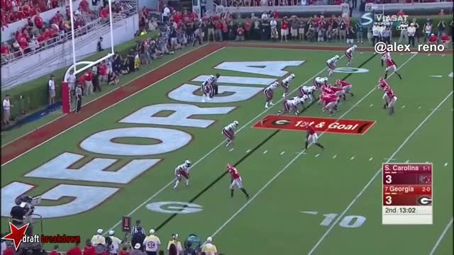 Watch and share Nick Chubb Vs South Carolina 2015 GIFs on Gfycat