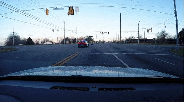dashcamgifs, Driver ignores a cop directing traffic and gets owned (reddit) GIFs