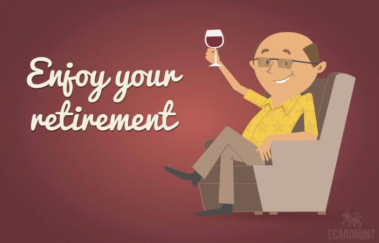 Looped, Retirement, Smile, Timeoff, best of luck, enjoy, goodbye, work gifs, Enjoy Your Retirement GIFs