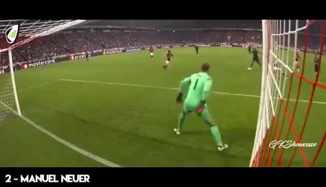 Watch and share TOP 25 Badass Goalkeeper Saves Of The Season 2017 GIFs on Gfycat