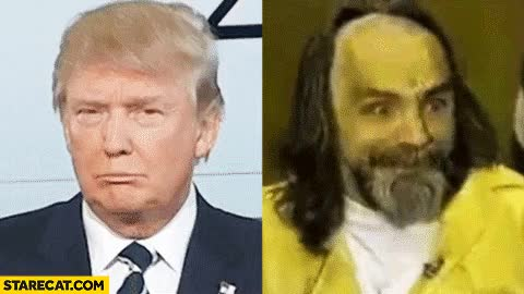 Watch this GIF on Gfycat. Discover more charles manson, donald trump GIFs on Gfycat
