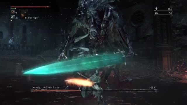 Bloodborne Ludwig Energy Attack Muddle