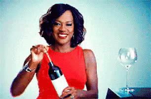 celebrate, cheers, drinking, friday, national wine day, tgit, treat yo self, viola davis, weekend, wine, Viola Davis Cheers GIFs