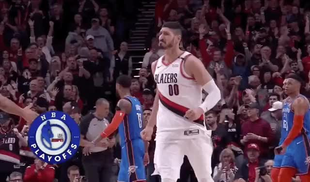 Enes Kanter saved The Blazers from getting swept For the Third Straight Year twice squaredcircle sana sad produce48 mina kpop korea jihyo happy dance funny enes kanter dubu dance cute cosmicgirls celebs arin applause angry GIF